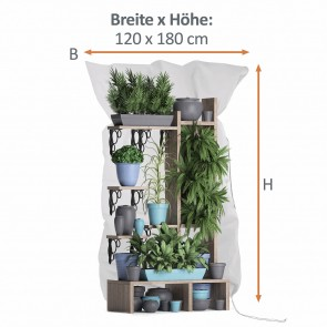 PRIMA GARDEN Pflanzen-Winterschutzhaube XL, 120x180 cm, Grün