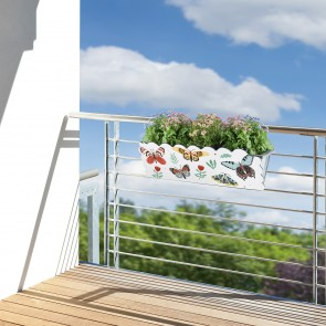 MAXXMEE Kastendekoration Schmetterling - Für Standard-Blumenkästen von 30-50 cm Breite