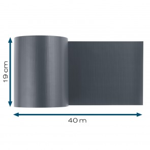 Hoberg Sichtschutzstreifen für Doppelstabmatten in Anthrazit - 40 m x 19 cm - 450 g/m²