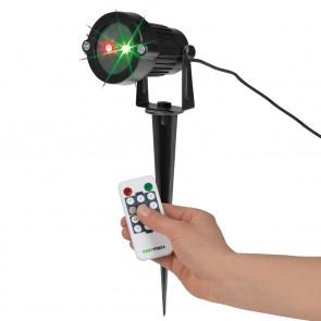 EASYmaxx Laserstrahler mit Fernbedienung schwarz - Freisteller
