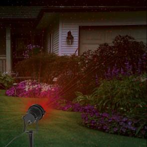 EASYmaxx Laserstrahler Lichtpunkte in Rot/Grün 3W in Schwarz