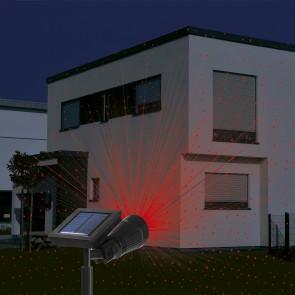 EASYmaxx Solar-Laserstrahler mit roten Lichtpunkten 3,2V