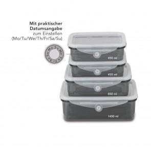 MAXXMEE Frischhaltedosen Klick-it 8-tlg. grau