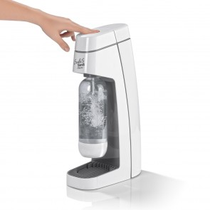 Soda Trend Sprudler Classic grau/weiß PET-Flasche + CO2-Zylinder